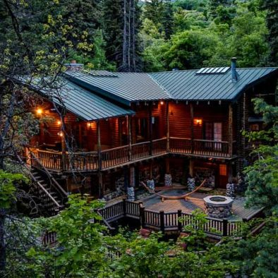 Log Cabin on The Stream vacation rental cabin in Sundance, UT by Mountain Cabins Utah nightly rentals