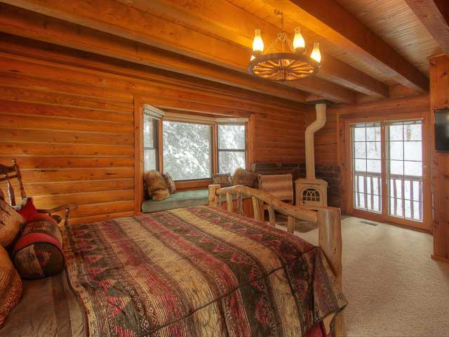 Log Cabin on The Stream vacation rental home by Mountain Cabins Utah in Sundance, Utah